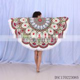 Wholesale Printed watermelon shaped Large Round Beach Towel aztec pattern microfiber round beach towel with tassels