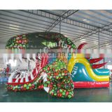 Excellent quality kids indoor slide / light dinosaur inflatable slide dry slide for kids play