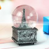 Resin Eiffel Tower Paris Snow Globe