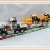 Friction truck toy with two construction car friction car toys