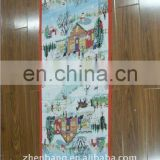 Christmas Scarf With Green Side Georgette Scarf From Zhen Bang Factory