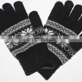 Fashion gloves men stylish winter gloves wholesale jacquard winter gloves JDG-018