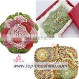 Bling handmade evening clutch bag cystal rhinestone clutch stonning bag