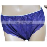 Disposable patient dark blue underwear brief
