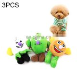 latest creative 3 PCS Pet Supplies Cat and Dog Cartoon Fruit Wear-resistant Interactive Cute Toy, Random Delivery
