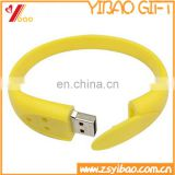 Chinese supplier custom logo silicon bracelet flash drive usb 8gb