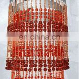 Red Acrylic Chandeliers For Decorations