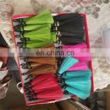 Red color weaved horse hair weft for spear tassel