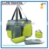Custom Portable Fashion Diaper Bag with Changing Mat