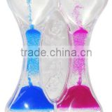 Double Heart Hourglass for Wedding, Liquid Timer for Kids, Oil Hourglass