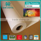 260gsm waterproof inkjet print polyester canvas roll for eco solvent                                                                         Quality Choice