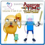 MINI QUTE 13cm Original Adventure Time in box Finn & Jake PVC Doll & PLUMP scale model action figures brinquedos NO.MQ 133