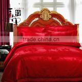 nantong factory 100% cotton printed jacquard bedding set luxury embroidery wedding bedding set