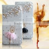 Hot Diamond BALLERINA GIRL Case for iPhone 5s Leather Cases