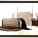 AK-7033 Factory Price Trustworthy China Supplier Teak Wood Double Bed