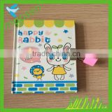 student diary note book line paper printing with lock