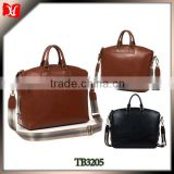 Office stylish brended name leather messenger bag for men                                                                         Quality Choice