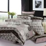 King Size Polyester Quilt with Printed Bed Sheet Sets