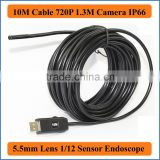 10M Cable Mini 5.5mm Lens 1.3MP 720P HD USB Endoscope 6 LED IP67 Waterproof Camera Endoscope Industrial Pipe Inspection Camera