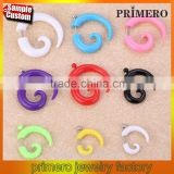 Acrylic Ear Plugs Ear Expander Carved Snail Spiral Taper Stretcher Piercing Body Jewerly