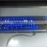 LED backlight gaming metal keyboard with trackball