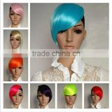 Punk Ladies Mens Short Straight Hair Bangs/ Cosplay Party Costume Anime Wigs W274