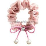 fancy elegant hair bow beads scrunchies cloth ponytail holders hair ties