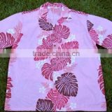 men's short sleeve beach hawaiian shirt