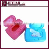 Plastic baby wipe case box with lid
