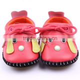dog pattern cheap comforatble baby walking shoes /soft PU baby shoes