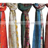 Double Sided Designer Stole Girl's Beautiful Kantha Scarves