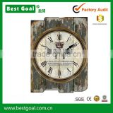 Home decor vintage cheap wall clock wooden clock                                                                         Quality Choice