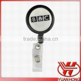 "plain retractable badge reel/retractable badge reel alligator clip/1.25"" badge reel"
