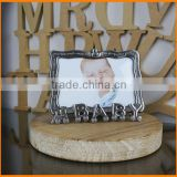 30175P-4R-dimensional rectangular 6-inch carving the letters of ancient tin colored metal baby Photo Frame