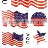 Wholesale Glitter Flag Tattoos sticker Customized Glitter tattoos sticker