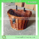 Wholesale Bike Basket Hand Woven Classic Adult Handlebar Wicker Natural Vintage Strap Cute