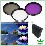 TS-UV, CPL, FLD, Multi-coated 3 Piece Filter Kit UV-CPL-FLD for Canon Digital EOS Rebel, Most Other Brand Digital SLR Cameras