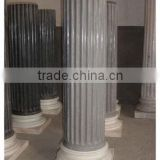 Good quality custom design exterior hand railings gray marble stone sculpture from Vietnam