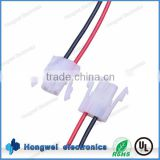 AMP 151680 2pin connector with UL1569 18awg 300V 105C wire customized auto cable harness