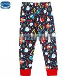 (B5781) 18M-6Y wholesale children clothing new winter cotton printed baby boy leggings in navy color