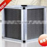 Efficiency up to 90% 0.12mm thickness flat aluminum foils crossflow plate heat exchanger