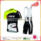 China custom design cycling jersey with Sportful Bib Pants