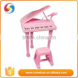 Electric educational plastic percussion musical instrument pink princess toy piano