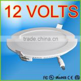DC12Volt Slim LED panel light round ceiling panel light 12 volts LED downlight UL CSA for USA