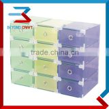 Plastic PP shoe box with metal frame home shoe storage box                                                                                                         Supplier's Choice