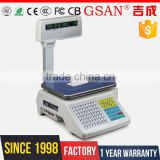 Fruit Kitchen Barcode Printing Scale 30kg Electronic Weighing Scale                                                                         Quality Choice