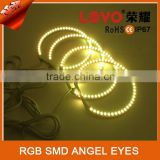 Milti color 5050 chips car full rings headlight RGB SMD angel lights