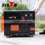 BISON China 6500 low price soundproof diesel generator home use silent type