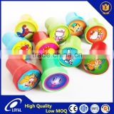 Colorful Plastic handle and cover Stamp, children toy self inking EVA or Rubber stamps