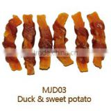 dog treat pet organic natural food duck and sweet potato                                                                         Quality Choice